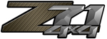 Brown Carbon Fiber 4x4 Bedside Chevy Z71 Decals for Colorado, Siverado or Sierra GMC Truck #9604