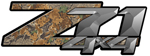 Advantage Camouflage 4x4 Bedside Chevy Z71 Decals for Colorado, Siverado or Sierra GMC Truck #9900