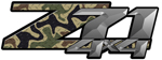 Diamond Plate Brown Camouflage 4x4 Bedside Chevy Z71 Decals for Colorado, Siverado or Sierra GMC Truck #9901