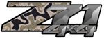 Desert Diamond Plate Camouflage 4x4 Bedside Chevy Z71 Decals for Colorado, Siverado or Sierra GMC Truck #9902