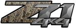 RealTree Camouflage 4x4 Bedside Chevy Z71 Decals for Colorado, Siverado or Sierra GMC Truck #9903