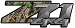 RealTree Green Camouflage 4x4 Bedside Chevy Z71 Decals for Colorado, Siverado or Sierra GMC Truck #9904