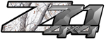RealTree Snow Camouflage 4x4 Bedside Chevy Z71 Decals for Colorado, Siverado or Sierra GMC Truck #9905