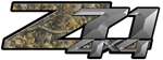 Advantage Timber Camouflage 4x4 Bedside Chevy Z71 Decals for Colorado, Siverado or Sierra GMC Truck #9906