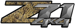 Advantage Wetlands Camouflage 4x4 Bedside Chevy Z71 Decals for Colorado, Siverado or Sierra GMC Truck #9907