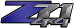 Dark Blue Carbon Fiber 4x4 Bedside Chevy Z71 Decals for Colorado, Siverado or Sierra GMC Truck #9601