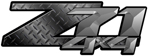 Black Diamond Plate 4x4 Bedside Chevy Z71 Decals for Colorado, Siverado or Sierra GMC Truck #9700