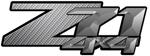 Gray Carbon Fiber 4x4 Bedside Chevy Z71 Decals for Colorado, Siverado or Sierra GMC Truck #9600