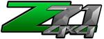 Green Gradient 4x4 Bedside Chevy Z71 Decals for Colorado, Siverado or Sierra GMC Truck #9801