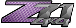 Purple Carbon Fiber 4x4 Bedside Chevy Z71 Decals for Colorado, Siverado or Sierra GMC Truck #9609