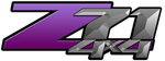 Purple Gradient 4x4 Bedside Chevy Z71 Decals for Colorado, Siverado or Sierra GMC Truck #9802