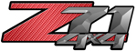 Red Carbon Fiber 4x4 Bedside Chevy Z71 Decals for Colorado, Siverado or Sierra GMC Truck #9602