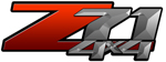 Red Gradient 4x4 Bedside Chevy Z71 Decals for Colorado, Siverado or Sierra GMC Truck #9803