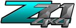 Teal Gradient 4x4 Bedside Chevy Z71 Decals for Colorado, Siverado or Sierra GMC Truck #9806
