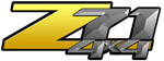 Yellow Gradient 4x4 Bedside Chevy Z71 Decals for Colorado, Siverado or Sierra GMC Truck #9807